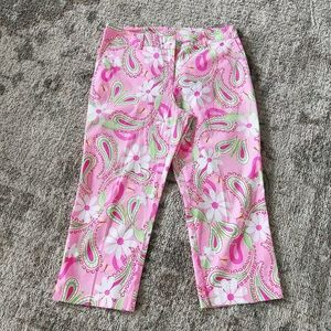 🌸 VINTAGE!!! LILY PULITZER CROPPED PANTS SIZE 12